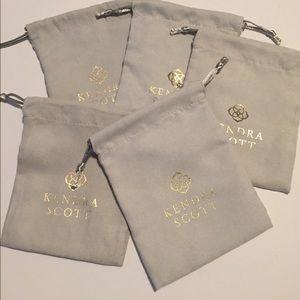Lot of 5 Kendra Scott jewelry dust bags